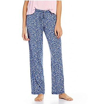 Jasmine & Ginger Heart & Lip-Print Jersey Sleep Pants