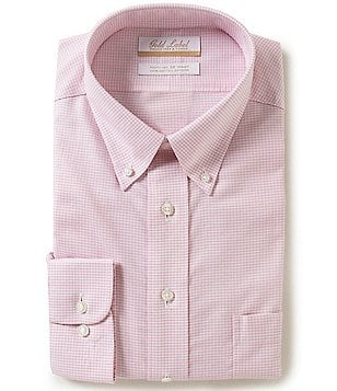 Gold Label Roundtree & Yorke Big & Tall Non-Iron Regular Full-Fit Gingham Button-Down Collar Dress Shirt