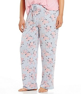 Jasmine & Ginger Plus Floral Jersey Sleep Pants