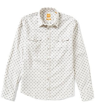 BOSS Orange Edoslime Dobby Pattern Long-Sleeve Woven Shirt