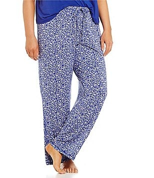 Jasmine & Ginger Plus Heart-Print Jersey Sleep Pants