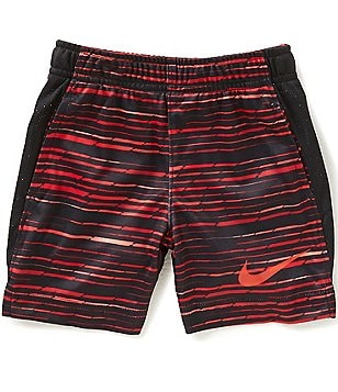 Nike Little Boys 2T-7 Legacy AOP Marled Knit Striped Shorts