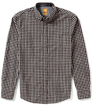 BOSS Orange Edipoe Check Poplin Long-Sleeve Woven Shirt