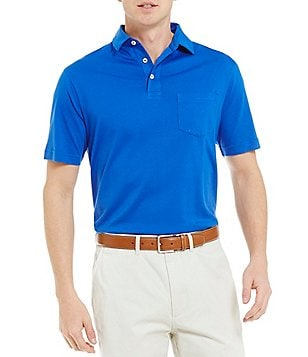 Cremieux Solid Supima Cotton Short Sleeve Solid Polo Shirt