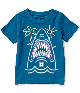 Hurley Little Boys 2T-7 Neon Shark Short-Sleeve Tee