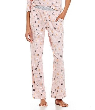 Sleep Sense Petite Cats & Stripes Sleep Pants