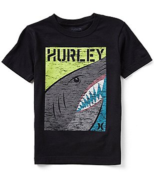 Hurley Big Boys 8-20 Shark Split Short-Sleeve Graphic Tee