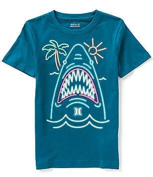 Hurley Big Boys 8-20 Neon Shark Glow-in-the-Dark Tee