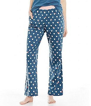 Sleep Sense Petite Hearts & Stripes Sleep Pants