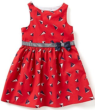 Nautica Little Girls 2T-6X Nautical Printed Sailboat Bow Dress