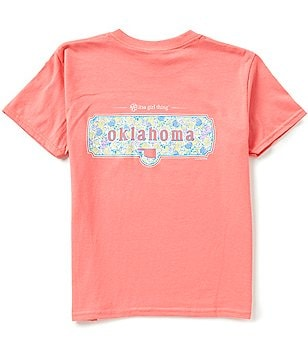 Itsa Girl Thing Big Girls 7-16 Short Sleeve Oklahoma Graphic Tee