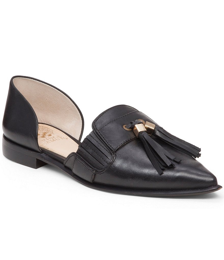 Vince Camuto Hollina Leather Tassel d´Orsay Slip-On Flats