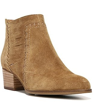 Sarto by Franco Sarto Erynn Suede Side-Slit Detail Block Heel Booties
