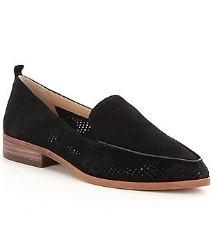 Vince Camuto Kade Perforated Suede Slip-on Loafers