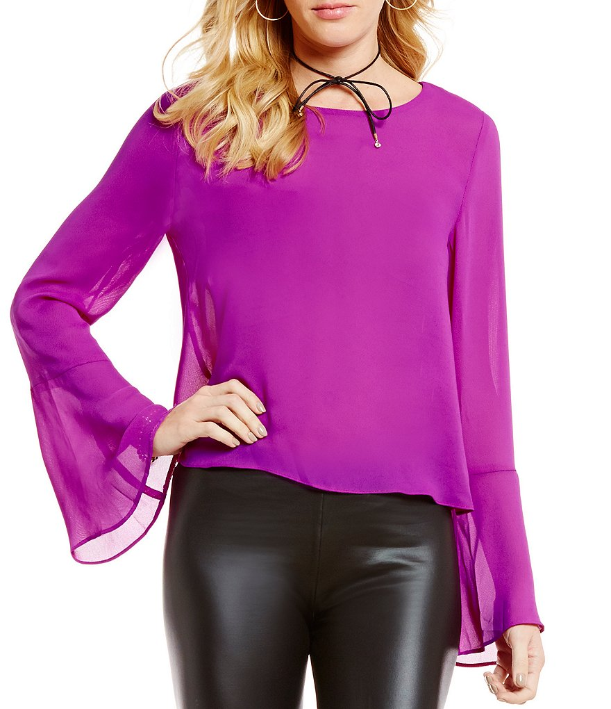 GB Open Back Bell-Sleeve Blouse