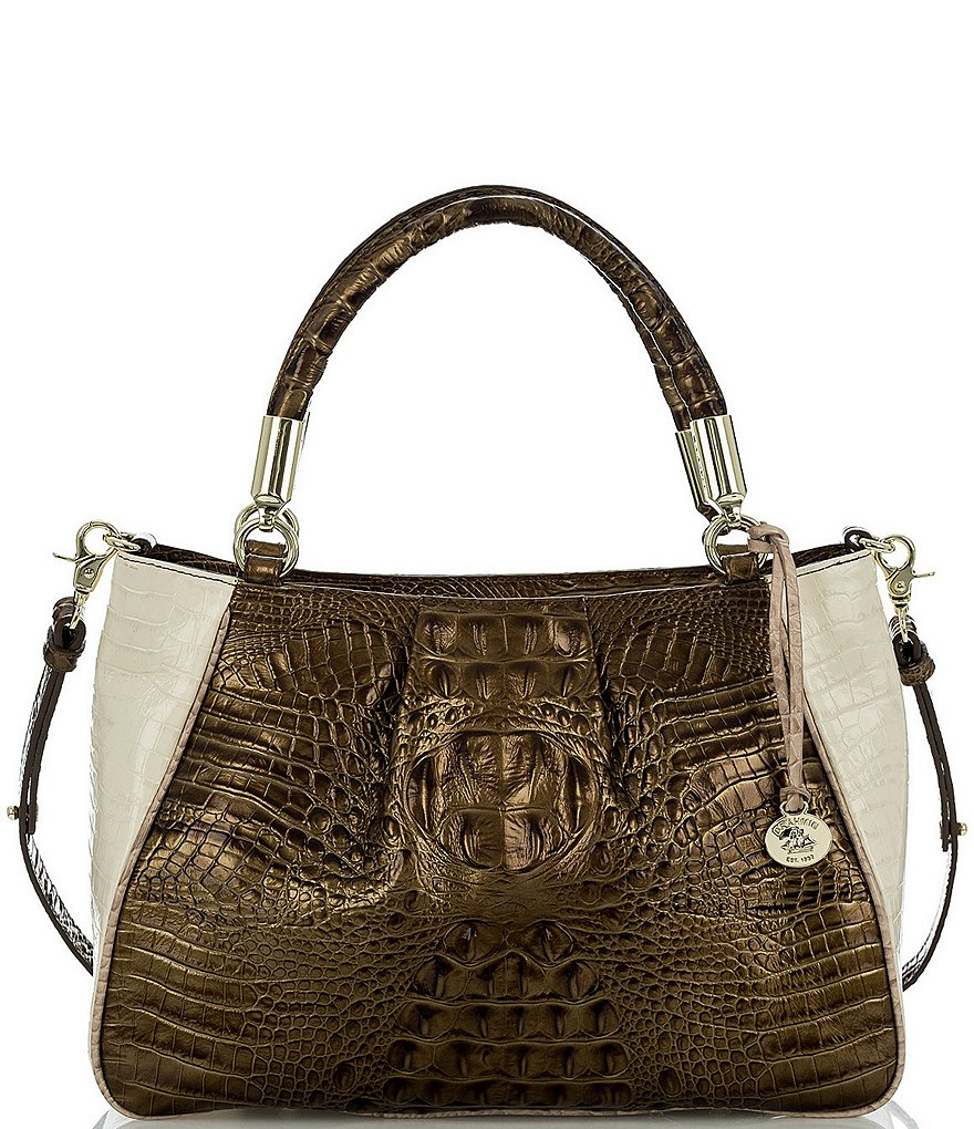 Brahmin Primrose Collection Ruby Satchel