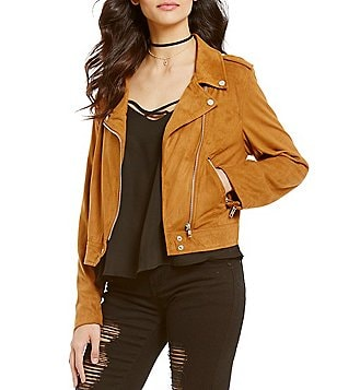 GB Faux-Suede Moto Jacket