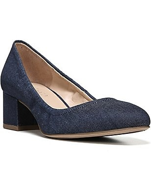Franco Sarto Fausta Denim Slip-On Pumps