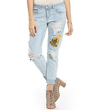 GB Patched Distressed Boyfriend Jeans