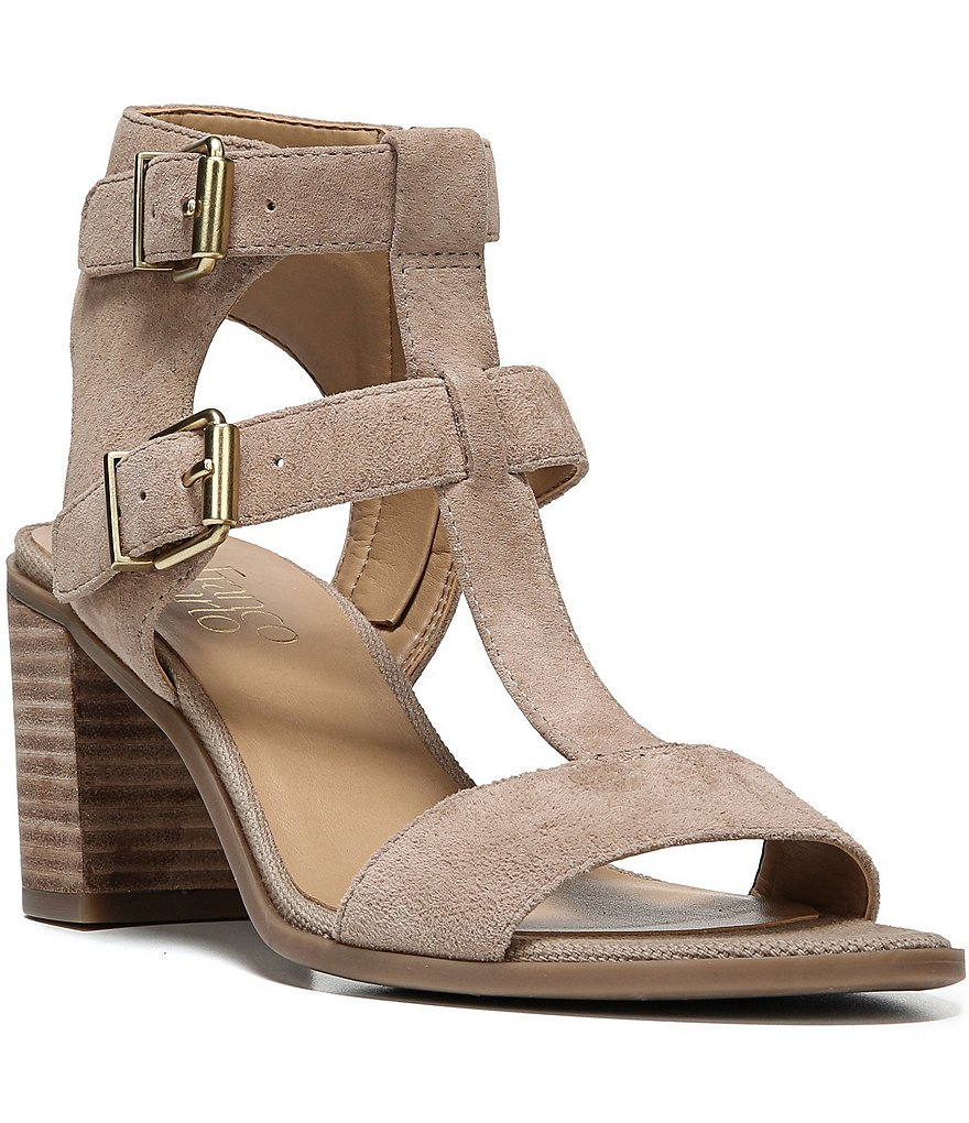 Franco Sarto Hasina Buckled Strap Block Heel Sandals