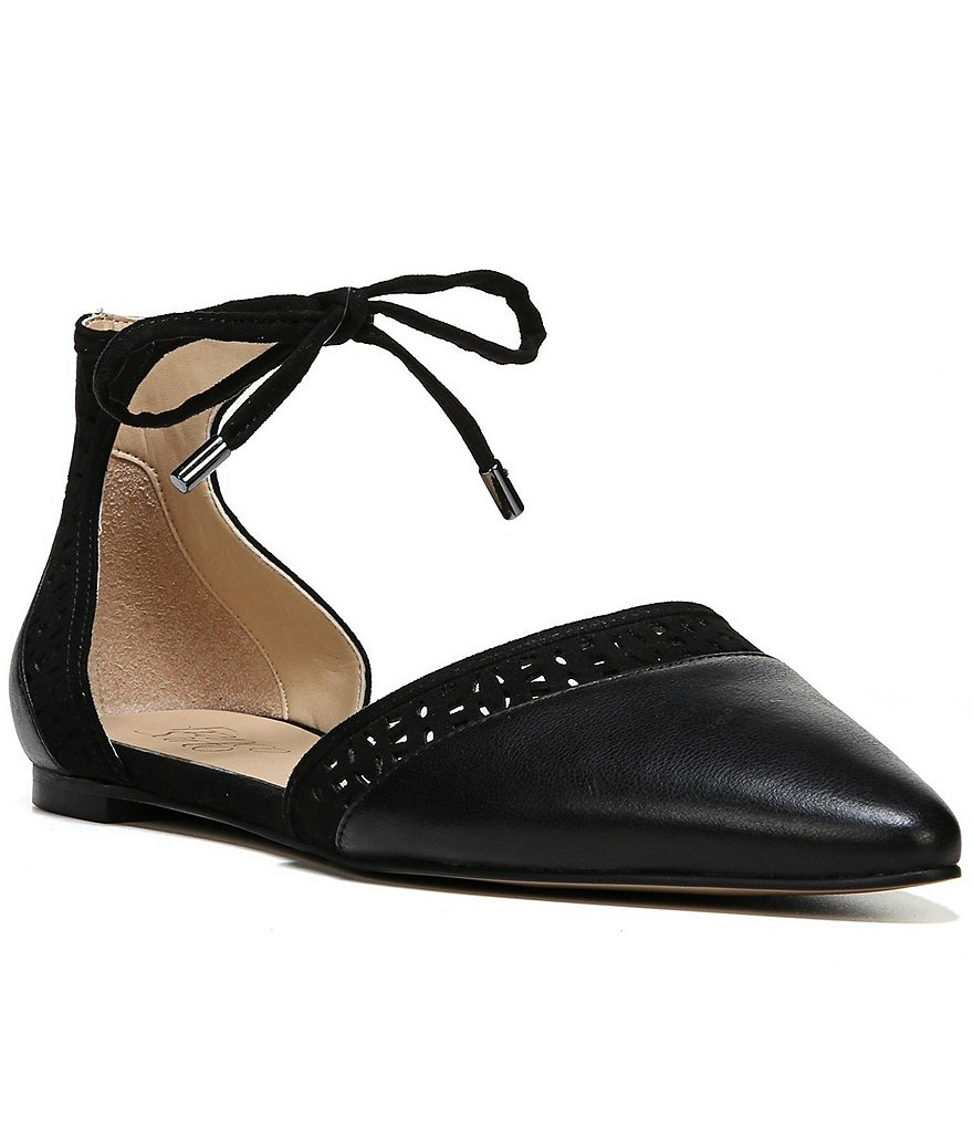 Franco Sarto Shirley d´Orsay Lace-Up Leather Ankle Flats