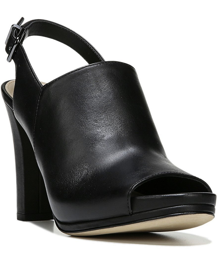 Via Spiga Cara Sling Back Peep Toe Leather Dress Sandals