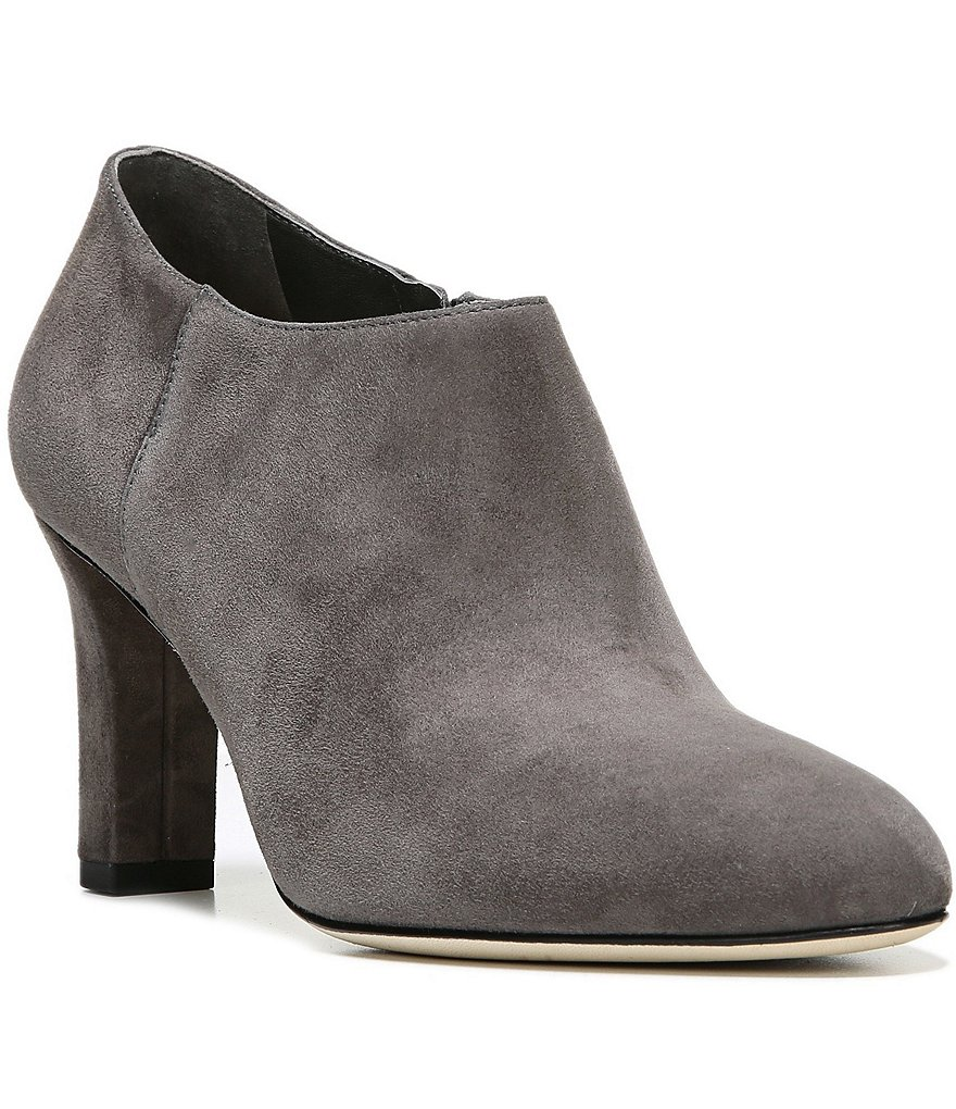 Via Spiga Padma Suede Side Zip High Heel Booties