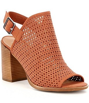Steve Madden Neptune Perforated Peep-Toe Block Heel Shooties
