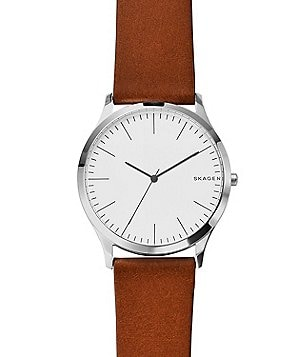 Skagen Jorn Analog Leather-Strap Watch