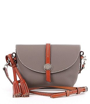 Dooney & Bourke Cambridge Collection Tasseled Saddle Bag