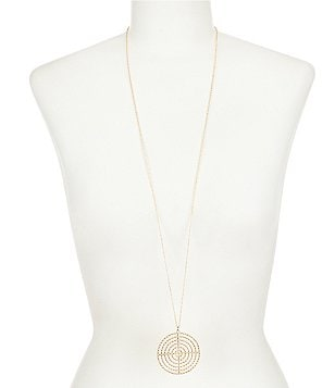 Anna & Ava Sloan Long Circular Pendant Necklace