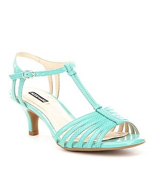 Alex Marie Lanelle Snake-Embossed Leather Dress Sandals