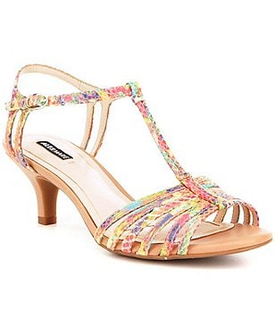 Alex Marie Lanelle Watercolor Leather Dress Sandals