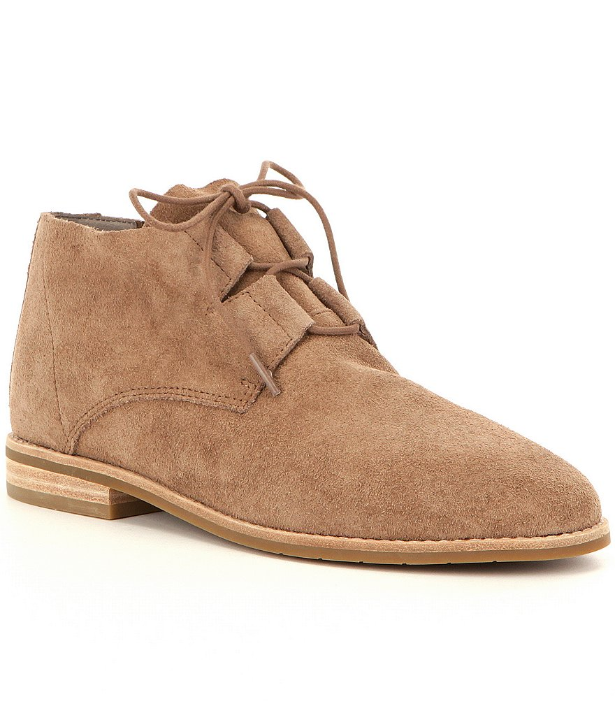 Eileen Fisher Baret Suede Lace-Up Booties