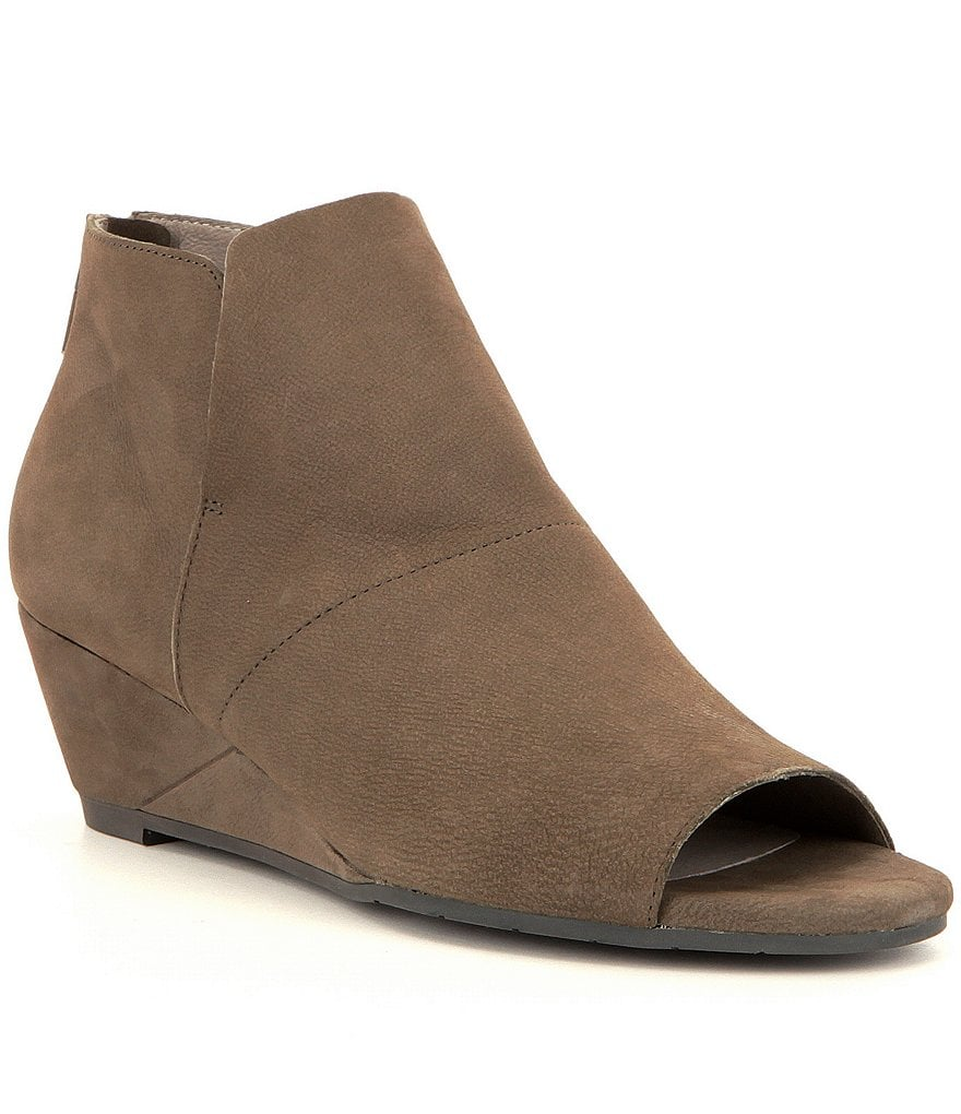 Eileen Fisher Duffy Peep-Toe Wedge Shooties
