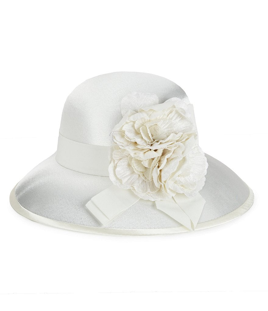 August Hats Ravishing Flower & Ribbon Dress Hat