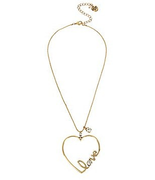 Betsey Johnson Love Heart Pendant Necklace