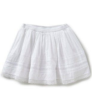 Ralph Lauren Childrenswear Little Girls 4-6X Lace-Trimmed Voile Skirt