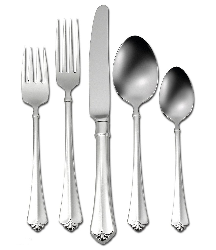 Oneida Juilliard Fleur-de-Lis Stainless Steel 5-Piece Flatware Place Setting