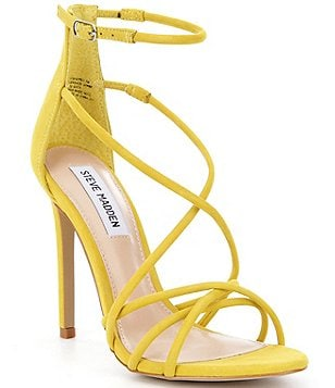 Steve Madden Strapped Criss Cross Ankle Strap Dress Sandals