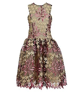 Miss Behave Big Girls 8-16 Camilla Floral-Embroidered Tulle Skater Dress