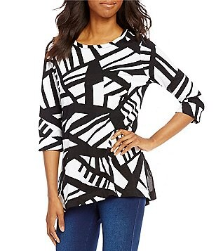 Westbound Petites 3/4 Sleeve 1 Pocket Tunic
