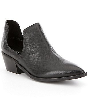 Chinese Laundry Focus Leather Pointed-Toe Side Cutout Booties
