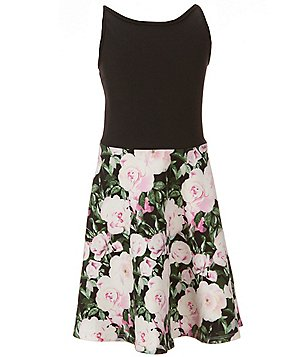Penelope Tree Big Girls 8-14 Ilene Floral-Print Scuba Dress