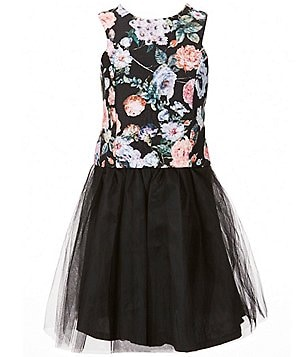 Penelope Tree Big Girls 8-14 Floral Top and Tulle Skirt Set