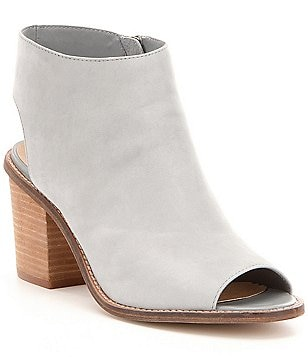 Chinese Laundry Calvin Leather Peep Toe Block Heel Booties
