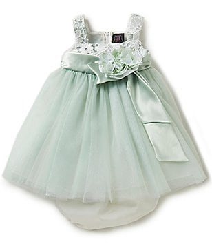 Chantilly Place Baby Girls 12-24 Months Glitter Tulle Ballerina Dress