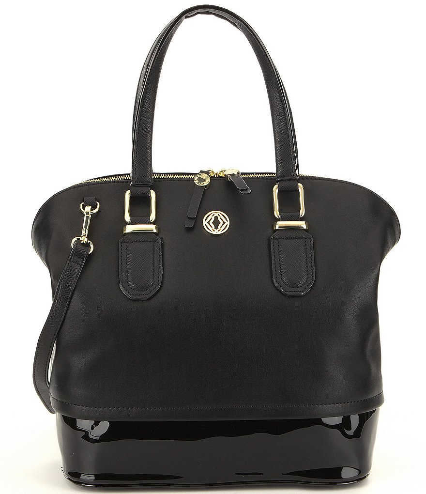Kate Landry Patent-Pop Satchel