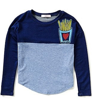 Moa Moa Big Girls 7-16 French Fry Graphic-Print Colorblock Top