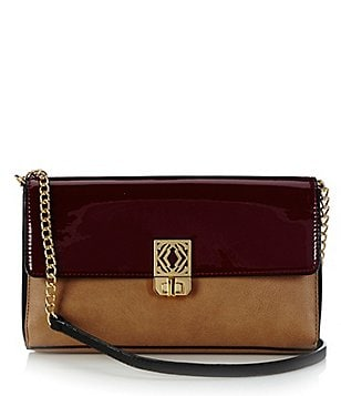 Kate Landry Color Block Flap Cross-Body Bag